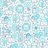 Machine die, kunstmatige intelligentie naadloos patroon leren Royalty-vrije Stock Afbeelding