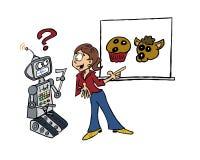 Machine die menselijke vaardigheden leren vector illustratie
