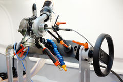 Machine diesel de diagnostic et de réparation de turbin Photo stock