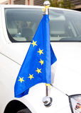 Car of Diplomatic Corps EU with flag Royalty Free Stock Photography