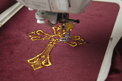 Machine embroidery Royalty Free Stock Photography