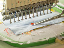 Machine embroidery stock photography