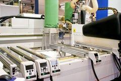 Machine en bois de laser Image stock