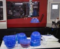 Machine en plastique de presse de moulage par injection photos libres de droits