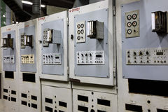 Machine equipment of canning factory Stock Image