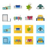 Machine, equipment, spinning, and other web icon in cartoon,flat style., Appliances, inventory, textiles icons in set. Machine, equipment, spinning, and other Royalty Free Stock Photo