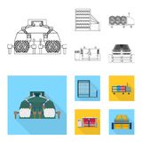 Machine, equipment, spinning, and other web icon in outline,flat style., Appliances, inventory, textiles icons in set. Machine, equipment, spinning, and other Royalty Free Stock Photo