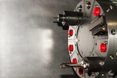 Machine equipment / tools on CNC machine Royalty Free Stock Image