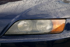 The machine eyes. A part of a car lightning Stock Image