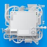 Machine fantastique complexe blanche illustration stock