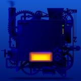 Machine fantastique complexe bleue Photos libres de droits