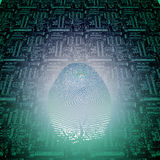 Machine Fingerprint. High Resolution Illustration Machine Fingerprint Royalty Free Stock Image