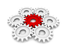 Machine Gear Wheel Cogwheel Stock Image