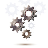 Machine gear wheel, cogwheel background Stock Photography