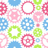 Machine Gear Wheel Cogwheel Seamless Pattern Background. Vector Stock Photography