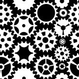 Machine Gear Wheel Cogwheel Seamless Pattern Background. Vector Royalty Free Stock Photos
