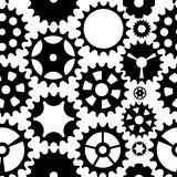Machine Gear Wheel Cogwheel Seamless Pattern Background. Vector Stock Image