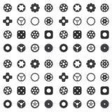 Machine Gear Wheel Cogwheel seamless pattern. Stock Image