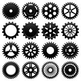 Machine Gear Wheel Cogwheel Vector. 16 specially designed cogwheel for machinery usage Royalty Free Stock Image