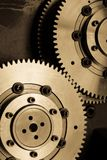 Machine gears background Stock Photos