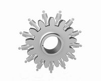 Machine Gears with figurine Royalty Free Stock Image