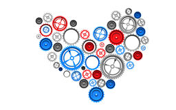 Machine Gears heart Royalty Free Stock Photos