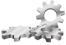 Machine gears mesh form industrial background Royalty Free Stock Photography