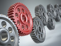 Machine gears. Teamwork concept. Royalty Free Stock Photography