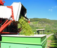 Machine grape harvest Royalty Free Stock Images