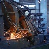 Machine grinding metal royalty free stock image
