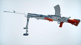 Machine gun. (isolated) Mk-1 Royalty Free Stock Photography