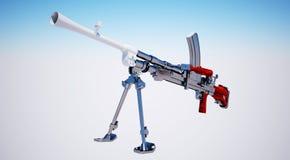 Machine gun. (isolated) Mk-1 Royalty Free Stock Images
