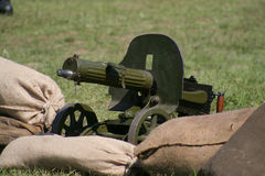 Machine gun. From first world war stock image