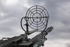 Machine gun. Kind on the sky through a machine gun sight Stock Photos