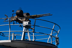 Machine Gun. On submarine in San Francisco Stock Photos