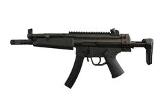 Machine gun. The image of machine gun under the white background Stock Images