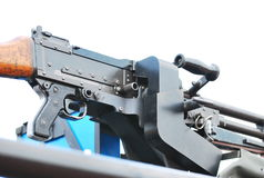 Machine Gun. A photo taken on a general purpose machine gun mounted on a military vehicle Stock Photos
