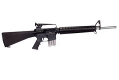 Machine gun. Isolated over white with a clipping path Royalty Free Stock Image