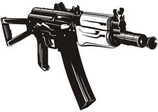 Machine gun. Vector illustration of a machine gun Stock Photography