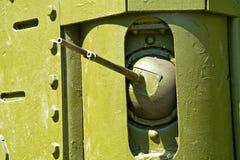 Machine gun of age-old tank Royalty Free Stock Photography