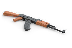 Machine gun AK-47 Stock Images
