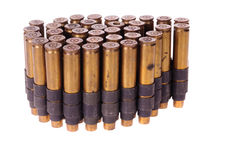 Machine gun ammunition belt Stock Images