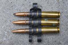 Machine gun ammunition Stock Photography