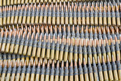 Machine gun ammunitions. Stack of  machine gun ammunitions Royalty Free Stock Photo