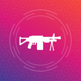 Machine gun, automatic firearm icon Royalty Free Stock Photography