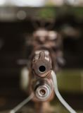 Machine gun barrel close-up Royalty Free Stock Photos