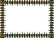 Machine-gun belt of ammunition Stock Image