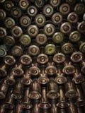 Machine-gun belt . Machine-gun tape is prepared for filling in the box Kalashnikov machine gun Stock Photo