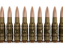 Machine-gun belts (clipping path included) Royalty Free Stock Photo