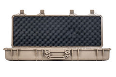 Machine gun box Soft Secure Storage Case isolated Royalty Free Stock Photography